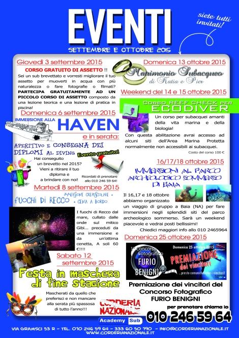 eventi settembre ottobre